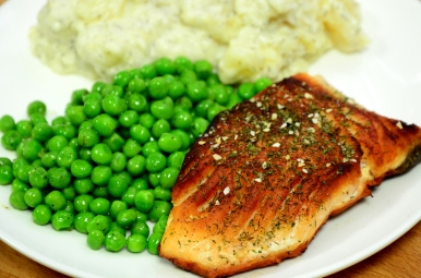 Salmon Steak with Dill Stewed Potato